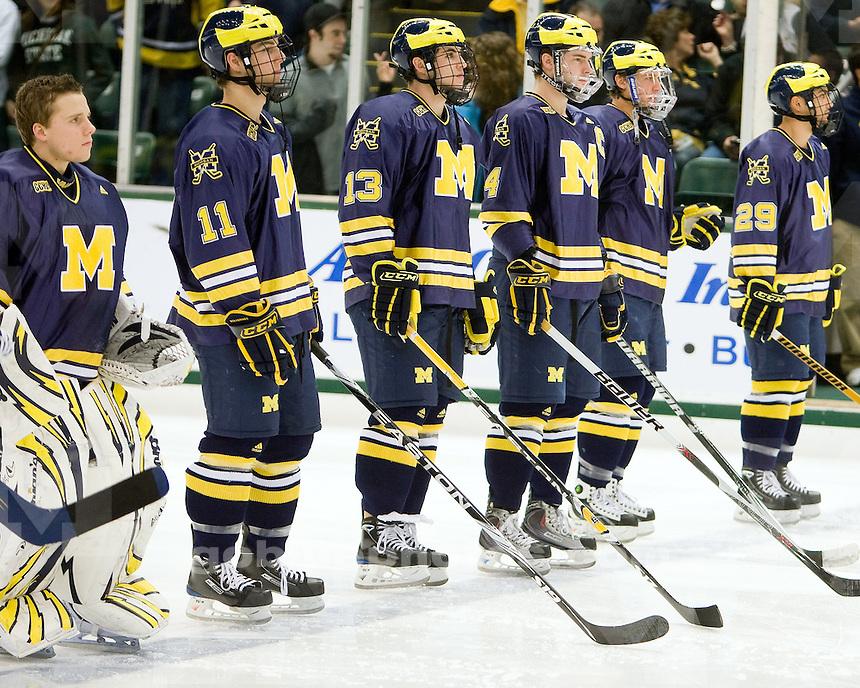 11/14/09 Michigan vs. Michigan State ice hockey at Munn Ice Arena in East Lansing, MI.