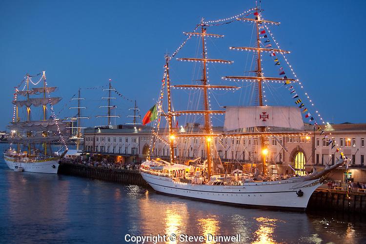 Mircea & Sagres, Tall Ships, Boston Harbor, Boston, MA
