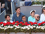 Real Madrid's players Alvaro Odriozola (l) and Lucas Vazquez during Madrid Open Tennis 2019 match. May 10, 2019.(ALTERPHOTOS/Alberto Simon)