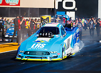 Jul 28, 2017; Sonoma, CA, USA; NHRA funny car driver Tim Wilkerson during qualifying for the Sonoma Nationals at Sonoma Raceway. Mandatory Credit: Mark J. Rebilas-USA TODAY Sports
