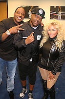 NEWARK, NJ - SEPTEMBER 25: Mase, Slim and Lil Kim pictured backstage at the Bad Boy Family Reunion concert at The Prudential Center in Newark, New Jersey on September 25, 2016. Credit: Walik Goshorn/MediaPunch