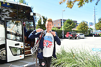 Houston, TX - Sunday Oct. 09, 2016: Joanna Lohman prior to a National Women's Soccer League (NWSL) Championship match between the Washington Spirit and the Western New York Flash at BBVA Compass Stadium.
