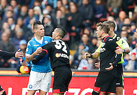 during the  italian serie a soccer match,between SSC Napoli and Empoli      at  the San  Paolo   stadium in Naples  Italy , January 31, 2016