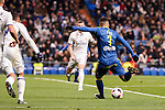 Celta de Vigo's Theo Bongonda during Copa del Rey match between Real Madrid and Celta de Vigo at Santiago Bernabeu Stadium in Madrid, Spain. January 18, 2017. (ALTERPHOTOS/BorjaB.Hojas)
