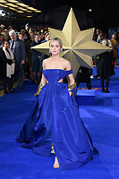"Brie Larson<br /> arriving for the ""Captain Marvel"" European premiere at the Curzon Mayfair, London<br /> <br /> ©Ash Knotek  D3484  27/02/2019"