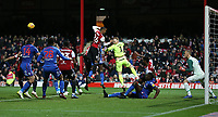 Bolton Wanderers' Ben Alnwick goes up for a  late corner <br /> <br /> Photographer Rob Newell/CameraSport<br /> <br /> The EFL Sky Bet Championship - Brentford v Bolton Wanderers - Saturday 22nd December 2018 - Griffin Park - Brentford<br /> <br /> World Copyright © 2018 CameraSport. All rights reserved. 43 Linden Ave. Countesthorpe. Leicester. England. LE8 5PG - Tel: +44 (0) 116 277 4147 - admin@camerasport.com - www.camerasport.com