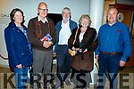 Members of the Louis Mulcahy staff at the launch of the Louis Mulcahy poetry book in Siamsa Tire on Sunday.