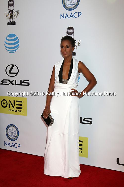 LOS ANGELES - FEB 5:  Kerry Washington at the 47TH NAACP Image Awards Arrivals at the Pasadena Civic Auditorium on February 5, 2016 in Pasadena, CA