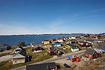 Vieille ville de Nuuk en bord de mer.  capitale du Groenland