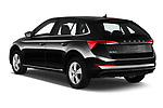 Car pictures of rear three quarter view of a 2019 Skoda Scala  Ambition 5 Door Hatchback angular rear