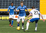 Kilmarnock v St Johnstone&hellip;09.04.16  Rugby Park, Kilmarnock<br />David Wotherspoon is closed down by Lee Hodson<br />Picture by Graeme Hart.<br />Copyright Perthshire Picture Agency<br />Tel: 01738 623350  Mobile: 07990 594431
