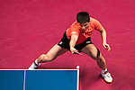 Koki Niwa (JPN) vs Zhendong Fan (CHN) in their Men Singles Round of 16 match during the Seamaster Qatar 2016 ITTF World Tour Grand Finals at the Ali Bin Hamad Al Attiya Arena on 9 December 2016, in Doha, Qatar. Photo by Victor Fraile / Power Sport Images