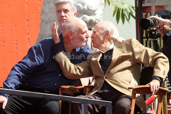 HOLLYWOOD, CA - APRIL 7:  Rob Reiner, Carl Reiner pictured at the Father and Son Hand and Foot Print Ceremony for Carl Reiner and Rob Reiner at the TCL Chinese Theater in Hollywood, California on April 7, 2017. Credit: David Edwards/MediaPunch