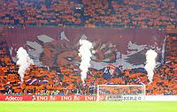 Holländischer Löwe will den deutschen Adler rupfen - 24.03.2019: Niederlande vs. Deutschland, EM-Qualifikation, Amsterdam Arena, DISCLAIMER: DFB regulations prohibit any use of photographs as image sequences and/or quasi-video.