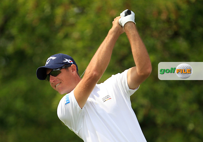 Nicolas Colsaerts (BEL) on the 6th tee during Round 1 of the D+D Real Czech Masters at the Albatross Golf Resort on Thursday 27th August 2015.<br /> Picture:  Thos Caffrey / www.golffile.ie
