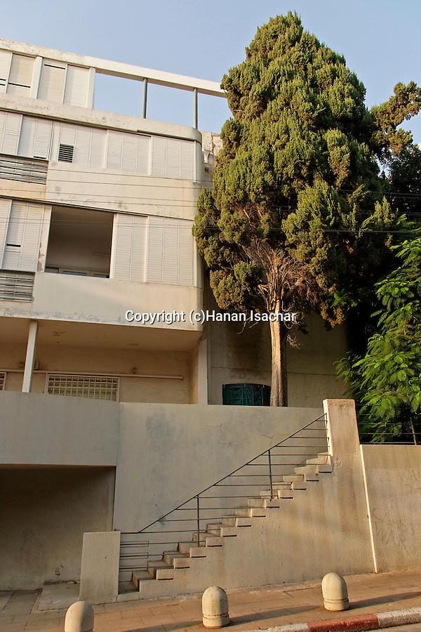 Israel, Tel Aviv. Dunkelblum house, a Bauhaus style building