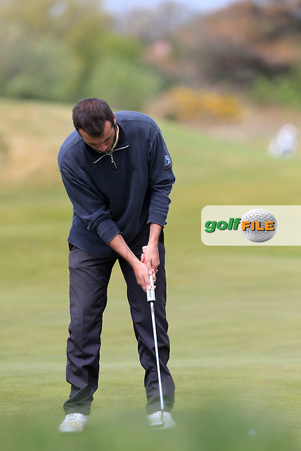 Robin Roussel (FRA) putts during Sunday's Round 3 of the 2015 Lytham Trophy held at Lytham &amp; St.Annes Golf Club. 3rd May 2015.<br /> Picture: Eoin Clarke www.golffile.ie
