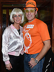 Martin and Paula Crosbie pictured at Naomh Fionnbarra fancy dress party in the Grove hotel Dunleer. Photo:Colin Bell/pressphotos.ie