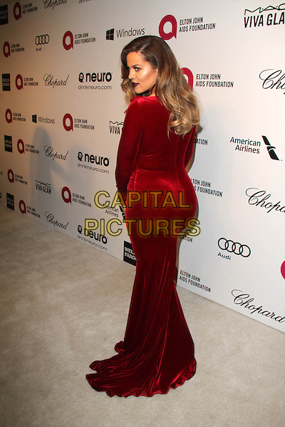 WEST HOLLYWOOD, CA - March 02: Khloe Kardashian at the 22nd Annual Elton John AIDS Foundation Oscar Viewing Party Arrivals, Private Location, West Hollywood,  March 02, 2014. <br /> CAP/MPI/JO<br /> &copy;JO/MPI/Capital Pictures