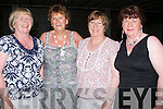 ALL FOR A GOOD CAUSE: Supporting the Mortor Neuran Disease Charity Dance in the.Earl of Desmond Hotel, Tralee on Friday night last were l-r: Margaret O'Sullivan, Kitty Daly, Ita O'Connor and Mary O'Leary (Tralee)
