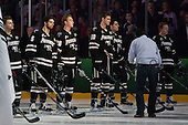 Trevor Mingoia (PC - 9), Kyle McKenzie (PC - 5), Brian Pinho (PC - 26), Mark Jankowski (PC - 10), Brandon Tanev (PC - 22), Ross Mauermann (PC - 14) - The Providence College Friars defeated the Boston University Terriers 4-3 to win the national championship in the Frozen Four final at TD Garden on Saturday, April 11, 2015, in Boston, Massachusetts.
