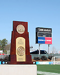 10 December 2005: The NCAA Division I Men's Soccer Championship Trophy at SAS Stadium in Cary, NC...