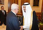 Palestinian President Mahmoud Abbas meets with Saudi Crown Prince, Deputy Prime Minister and Defense Minister, Prince Salman Bin Abdul Aziz Al Saud, in Riyadh on march 04, 2013. Photo by Thaer Ganaim
