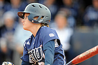 11 February 2012:  FIU's Kayla Burri (7) bats as the University of Massachusetts Minutewomen defeated the FIU Golden Panthers, 3-1, as part of the COMBAT Classic Tournament at the FIU Softball Complex in Miami, Florida.
