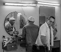 At the barber shop, Diez de Octubre, Habana