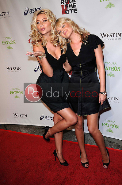 Alyson Michalka and Amanda Michalka<br />at 'Rock The Vote'. Esquire House, Hollywood, CA. 09-25-08<br />Dave Edwards/DailyCeleb.com 818-249-4998