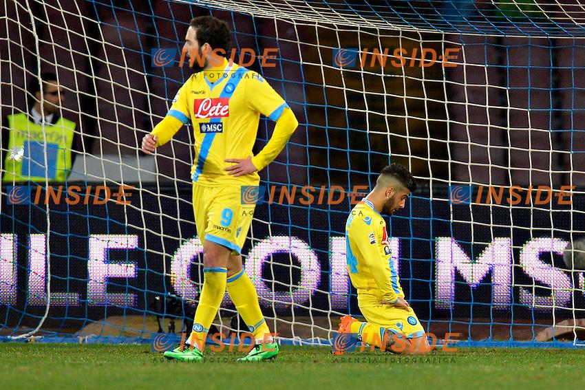 Gonzalo Higuain, Lorenzo Insigne Napoli <br /> Napoli 08-02-2014 Stadio San Paolo - Football Calcio Serie A 2013/2014 Napoli - Milan Foto Andrea Staccioli / Insidefoto