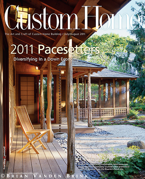 July-August 2011 Custom Home Cover