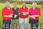 Pictured at the Glenflesk GAA golf classic in Lacabane, Killarney on Saturday were Denis O'Leary, Shane O'Leary, Niall O'Riordan and Brendan Cronin, O'Callaghan's Bar.
