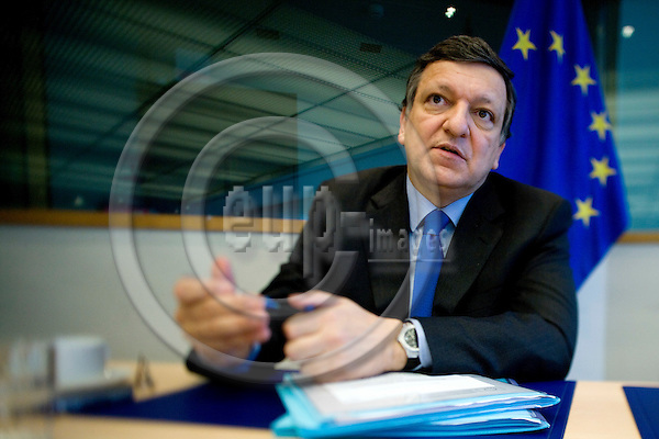 BRUSSELS - BELGIUM - 18 MAY 2009 -- Jose (José) Manuel BARROSO, President of the European Commission, during a interview at Breydel the old HQ of the EC.  Photo: Erik Luntang/EUP-IMAGES