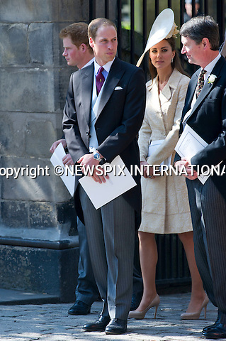 "Catherine Duchess of Cambridge ..ROYAL WEDDING..The wedding of Zara Phillips and Mike Tindall..The couple along with family and friend attend Canongate Church for their wedding. Canongate Church, Edinburgh, Scotland_30/07/2011..Mandatory Photo Credit: ©Dias/Newspix International..**ALL FEES PAYABLE TO: ""NEWSPIX INTERNATIONAL""**..PHOTO CREDIT MANDATORY!!: NEWSPIX INTERNATIONAL(Failure to credit will incur a surcharge of 100% of reproduction fees)..IMMEDIATE CONFIRMATION OF USAGE REQUIRED:.Newspix International, 31 Chinnery Hill, Bishop's Stortford, ENGLAND CM23 3PS.Tel:+441279 324672  ; Fax: +441279656877.Mobile:  0777568 1153.e-mail: info@newspixinternational.co.uk"