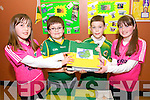 Caoimhe Hart, Luke Harrison, Mark Lawson, Demi Murray Wolfe, Listowel - Our County, at the Kerry Community Games Project Final in the KDYS Denny Street on Friday