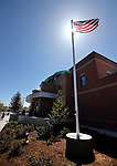 The new flag pole at the Carson City Sheriff's Office in Carson City, Nev., on Wednesday, April 24, 2013. .Photo by Cathleen Allison