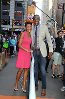 NEW YORK CITY, NY - August 20, 2012: Robin Roberts and NY Knicks' Amar'e Stoudemire at Good Morning America in New York City. © RW/MediaPunch Inc. /NortePhoto.com<br />