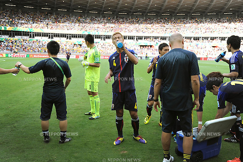 Keisuke Honda (JPN),<br /> JUNE 22, 2013 - Football / Soccer :<br /> Keisuke Honda of Japan takes a drink before the FIFA Confederations Cup Brazil 2013 Group A match between Japan 1-2 Mexico at Estadio Mineirao in Belo Horizonte, Brazil. (Photo by Takahisa Hirano/AFLO)