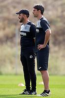 Getafe CF's coach Jose Bordalas with his second Sergio Pelegrin during training session. August 1,2017.(ALTERPHOTOS/Acero) /NortePhoto.com