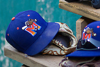 Midland RockHounds Hat on July 13, 2013 at Nelson Wolff Municipal Stadium in San Antonio, Texas. (Andrew Woolley/Four Seam Images)