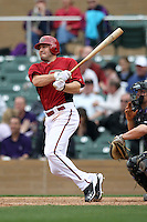 A.J. Pollock #60 of the Arizona Diamondbacks plays against the Colorado Rockies in the inaugural spring training game at Salt River Fields on February 26, 2011 in Scottsdale, Arizona. .Photo by:  Bill Mitchell/Four Seam Images.
