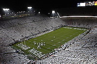 27 September 2008:  The second ever Beaver Stadium full stadium 'white out' or 'white house'.  The Penn State Nittany Lions defeated the Illinois Fighting Illini 38-24 September 27, 2008 at Beaver Stadium in State College, PA..
