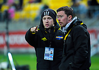 Hurricanes match manager Johnny Schmitt during the Super Rugby match between the Hurricanes and Rebels at Westpac Stadium in Wellington, New Zealand on Saturday, 4 May 2019. Photo: Dave Lintott / lintottphoto.co.nz