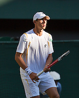 28-06-12, England, London, Tennis , Wimbledon,   Lukas Rosol