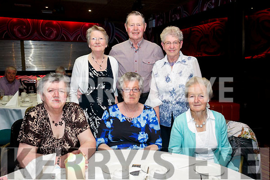 Enjoying the Irish Red Cross Tea Party to mark  World Red Cross Day at the Grand Hotel on Sunday were Betty Herlihy,  Phyllis Mclaughlin, Margaret Heaphy back l-r Theresa Collins, Pat Herilhy and Mamie Karney