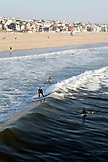 CALIFORNIA, Los Angeles, Santa Monica Beach Surfers