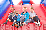 The red slide: Enjoying the bouncing Castles at Finuge fun day are the boys from Lixnaw, Jamie Galvin, Bryan, Jack and David Allen.