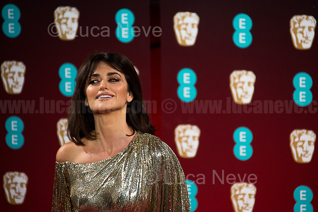 Penelope Cruz.<br /> <br /> London, 12/02/2017. Red Carpet of the 2017 EE BAFTA (British Academy of Film and Television Arts) Awards Ceremony, held at the Royal Albert Hall in London.<br /> <br /> For more information please click here: http://www.bafta.org/