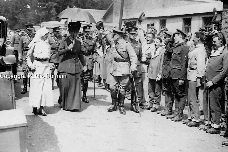 Her Majesty the Queen (Holland or england)  at a Canadian hospital